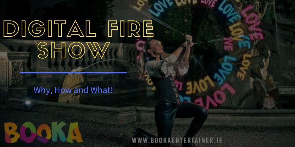 Digital Fire Show Wedding Party Entertainment